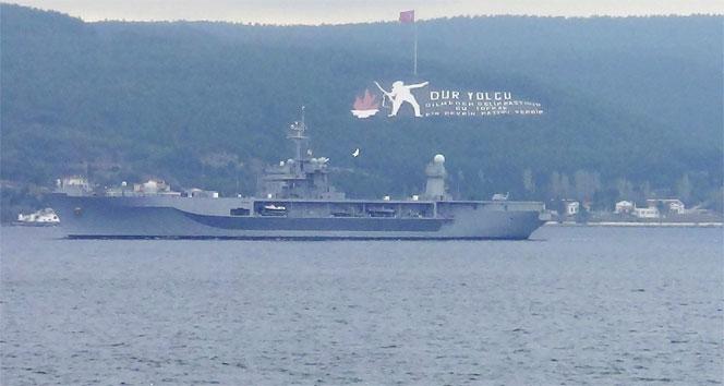 ABD savaş gemileri boğazdan geçti