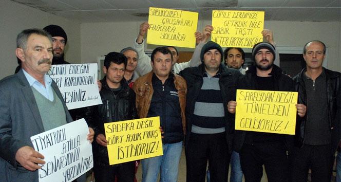 Tünel işçileri eylem için Ankara yolunda